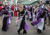 dancers parading