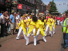 Oxum dancers lead the parade